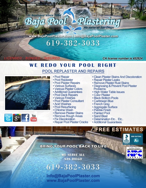 Baha Pool Plastering flyer