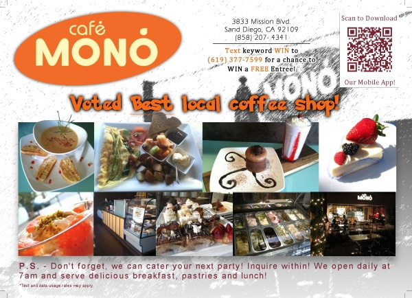 Cafe Mono postcard (front)
