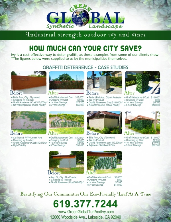 Green Global Ivy commercial flyer