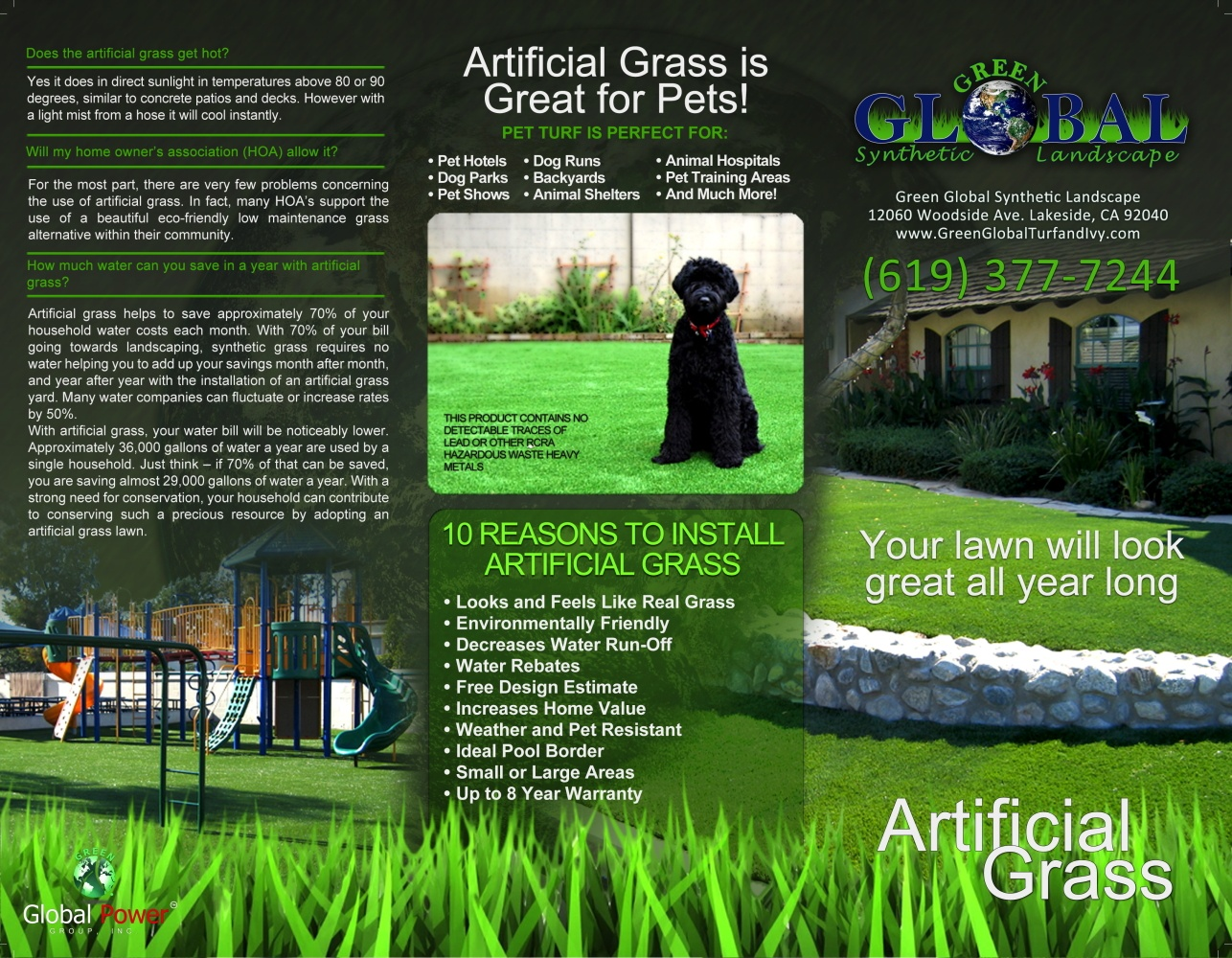 Green Global 3 fold brochure (front)
