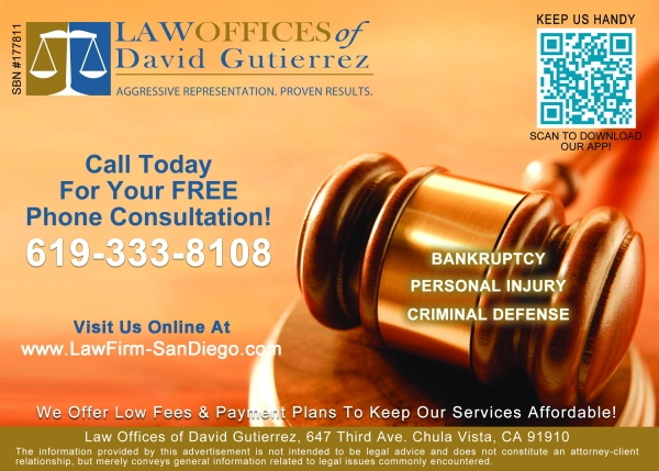 Law Offices of David Gutierrez flyer