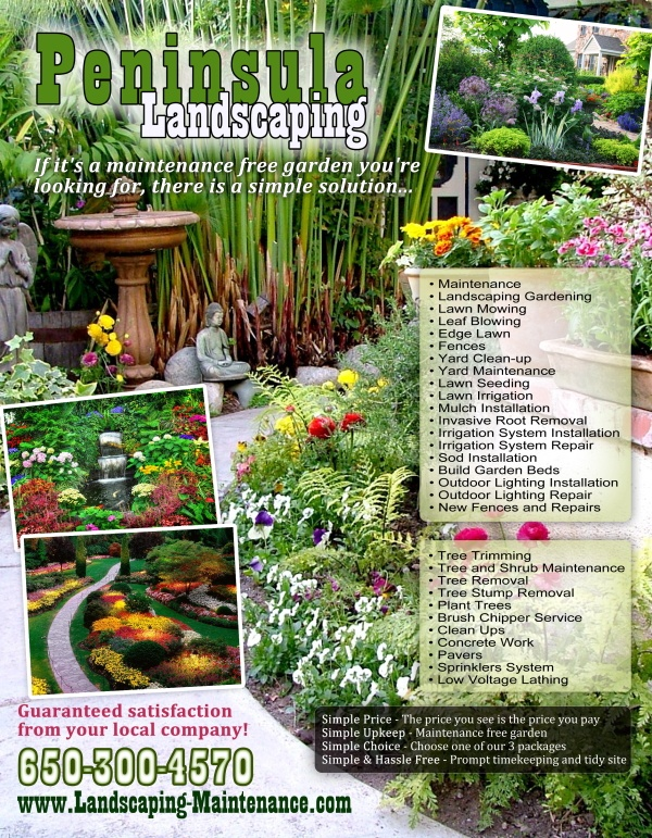 Peninsula Landscaping flyer