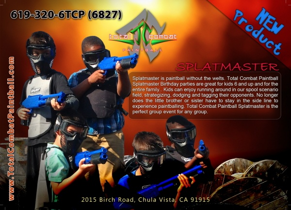 Total Combat Paintball postcard