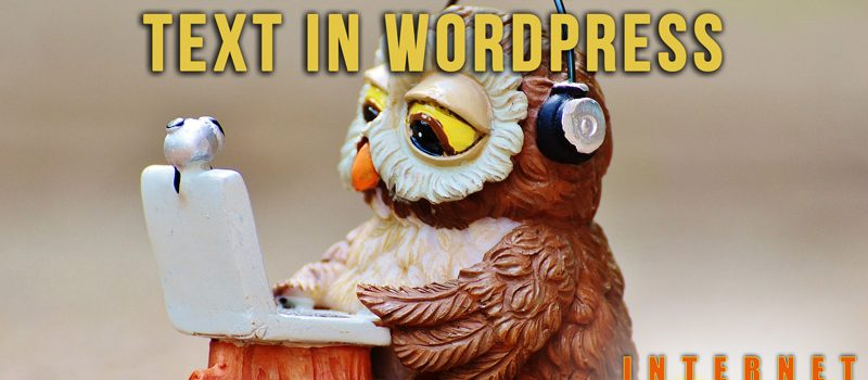 How to add sound to text in WordPress